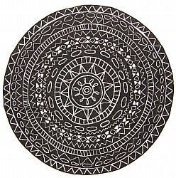 Round rug - Brussels Diamond (black)
