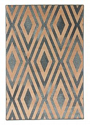 Wool rug - Krollo (blue)