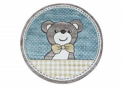 Childrens rugs - Caruba Teddy Round (turquoise)