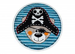 Childrens rugs - Caruba Pirat Round (blue)