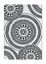 Rug 133 x 190 cm (wilton) - BW Circle (black/white)