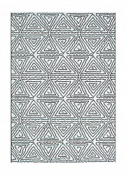 Rug 133 x 190 cm (wilton) - BW Abstrakt (black/white)