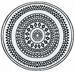 Round rugs - Aztek (black/white)