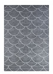 Rug 133 x 190 cm (wilton) - Thema Shell (grey)