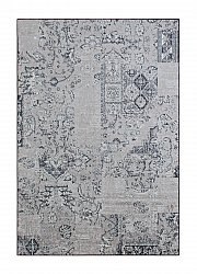 Rug 135 x 190 cm (wilton) - Faro Patch (grey)