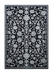 Wilton rug - Faro Flower (black)
