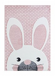 Childrens rugs - London Rabbit (pink)