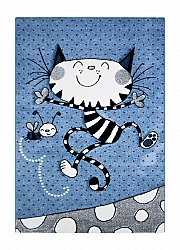 Childrens rugs - London Kitty (blue)