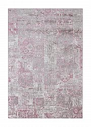 Rug 160 x 230 cm (wilton) - Faro Patch (white/grey/pink)