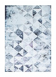 Rug 133 x 190 cm (wilton) - Shiraz Square (grey)