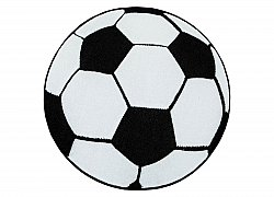 Childrens rugs - Atlas Football (black-white)