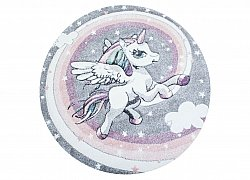 Childrens rugs - Atlas Unicorn Round (multi)