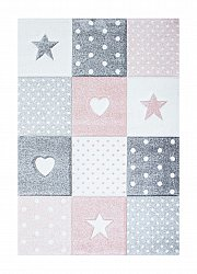Childrens rugs - Atlas Star (pink)