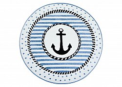 Childrens rugs - Indigo Ankare Round (blue)