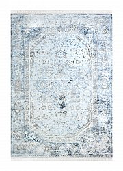 Wilton rug - Colourful Medallion (grey)