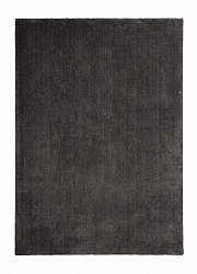 Rug 133 x 190 cm (shaggy rugs) - Soft dream (dark grey)