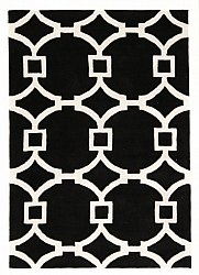 Rug 300 x 400 cm (wool) - Apollónia (black/white)