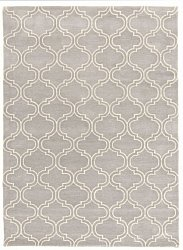 Rug 160 x 230 cm (wool) - Korinth (light grey)