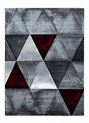 Rug 160 x 230 cm (wilton) - Lucca (white/grey/red)