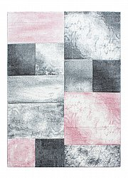 Wilton rug - Hawaii (white/grey/light pink)