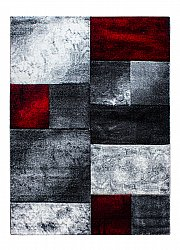 Wilton rug - Hawaii (white/grey/red)