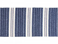 Kitchen rug (plastic/cotton) - The Horredmatta Asta Mix (blue)
