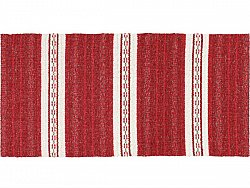 Kitchen rug (plastic/cotton) - The Horredmatta Asta Mix (red)
