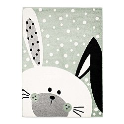 CHILDRENS RUGS rug for children room CHILDRENS RUGS for boy girl Bubble Bunny green rabbit