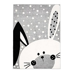 CHILDRENS RUGS rug for children room CHILDRENS RUGS for boy girl Bubble Bunny grey rabbit