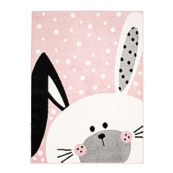 CHILDRENS RUGS rug for children room CHILDRENS RUGS for boy girl Bubble Bunny pink rabbit