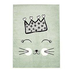 CHILDRENS RUGS rug for children room CHILDRENS RUGS for boy girl Bubble Crown green crown