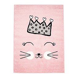 CHILDRENS RUGS rug for children room CHILDRENS RUGS for boy girl Bubble Crown pink crown
