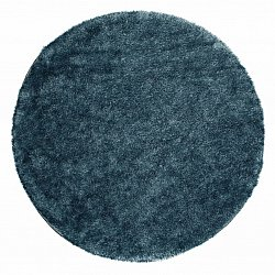 Round rug 120 cm - Cosy (blue/green)