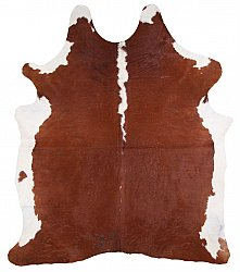 Cowhide - Classic Brown and White 20