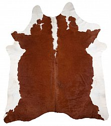 Cowhide - Classic Brown and White 24