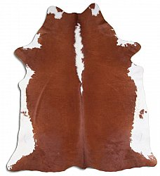 Cowhide - Classic Brown and White 13