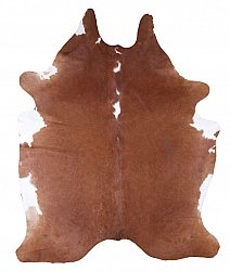 Cowhide - Classic Brown and White 80