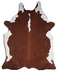 Cowhide - Classic Brown and White 25