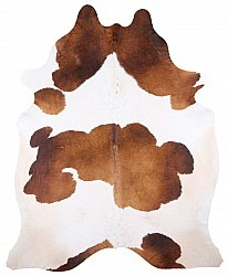 Cowhide - Classic Brown and White 45
