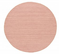 Round rug - Dhurry (pink)