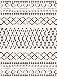 Wilton rug - Safi (black/white)