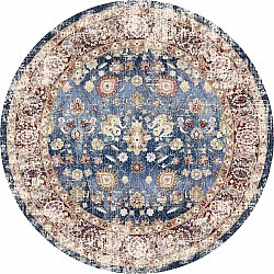Round rug - Bouhjar (dark blue/multi)