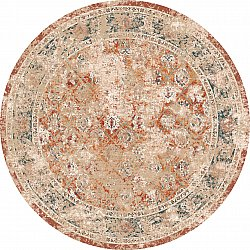 Round rug - Douz (red/multi)