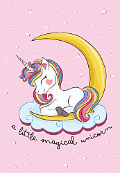 Childrens rugs - Magical Unicorn (pink)