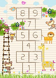Childrens rugs - Counting Animals (multi)