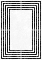 Wilton rug - Assos (black/white)