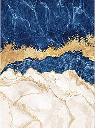 Wilton rug - Padova (blue/white/gold)