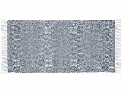 Kitchen rug (plastic/cotton) - The Horredmatta Goose Mix (blue)