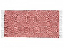 Kitchen rug (plastic/cotton) - The Horredmatta Goose Mix (red)
