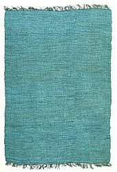 Hemp rug - Natural (blue/turquoise)